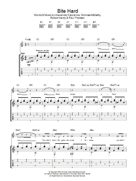 Bite Hard Sheet Music