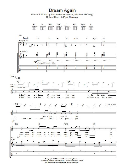 Dream Again (Guitar Tab)