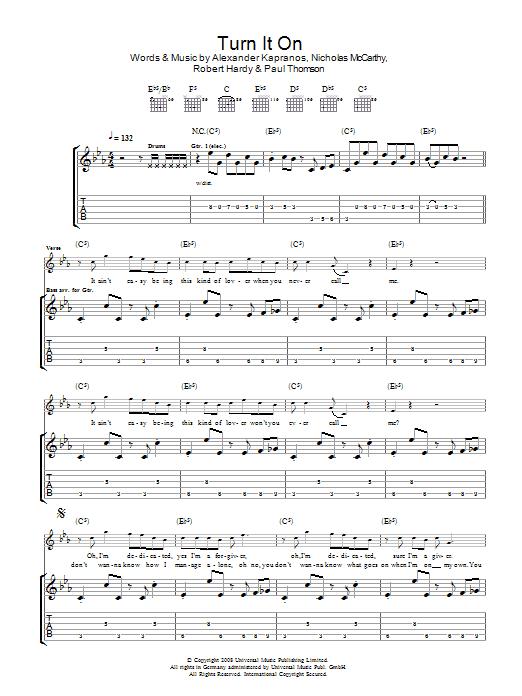 Turn It On (Guitar Tab)
