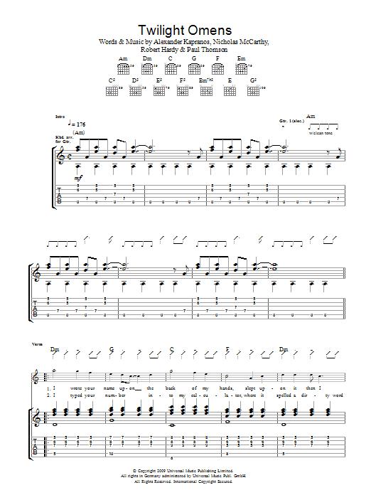 Twilight Omens (Guitar Tab)
