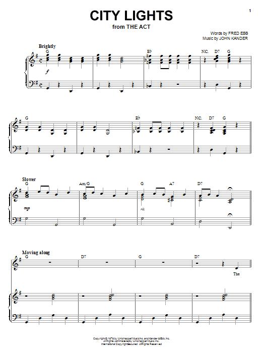 City Lights (Piano & Vocal)