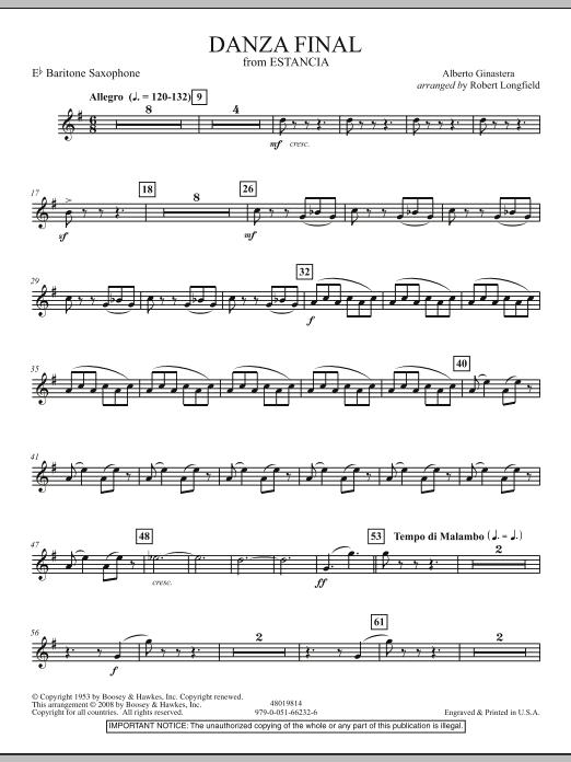 "Danza Final (from ""Estancia"") - Eb Baritone Saxophone Digitale Noten"
