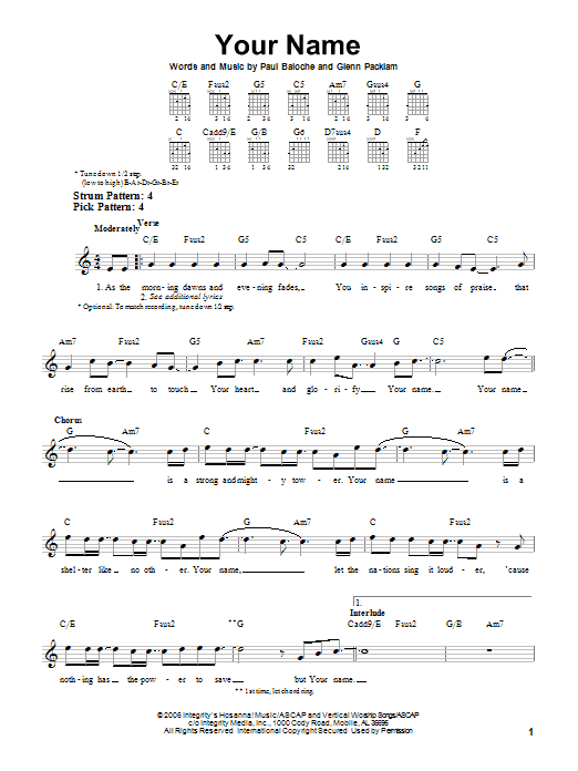 Your Name Sheet Music