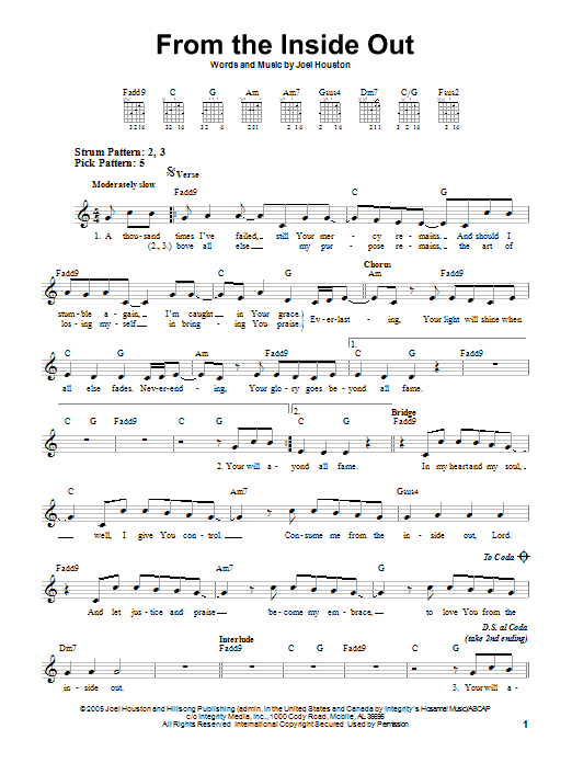 From The Inside Out | Sheet Music Direct