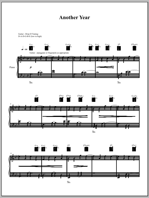 Another Year Sheet Music