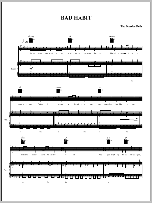 Bad Habit Sheet Music