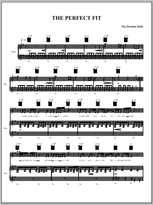 The Perfect Fit Sheet Music