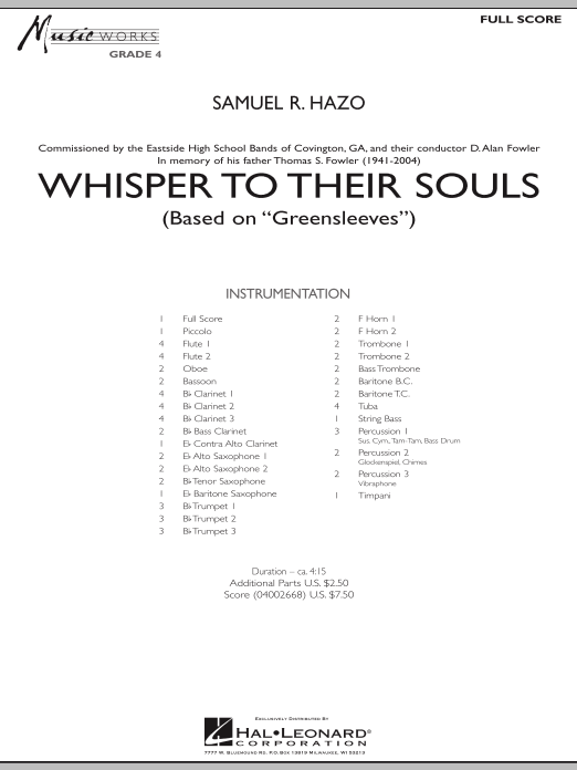 Whisper to Their Souls (based on