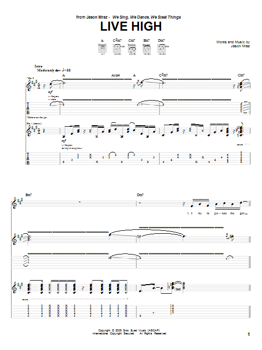 Live High (Guitar Tab)