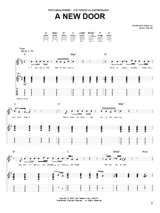 A New Door Sheet Music