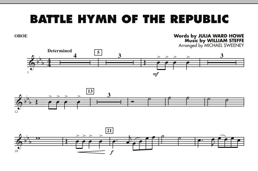 Battle Hymn of the Republic - Oboe (Concert Band)