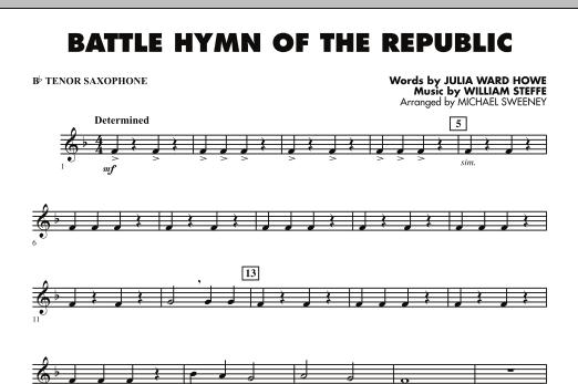 Battle Hymn of the Republic - Bb Tenor Saxophone (Concert Band)