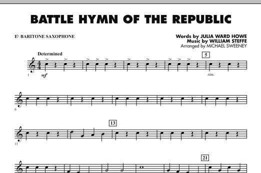 Battle Hymn of the Republic - Eb Baritone Saxophone (Concert Band)
