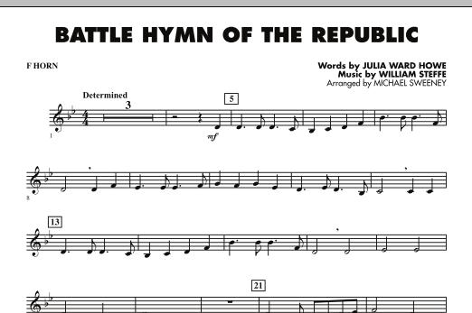 Battle Hymn of the Republic - F Horn (Concert Band)