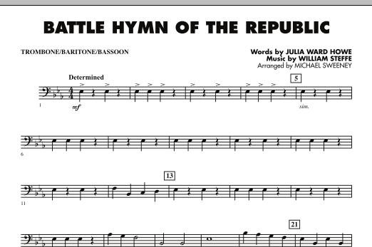 Battle Hymn of the Republic - Trombone/Baritone B.C./Bassoon (Concert Band)