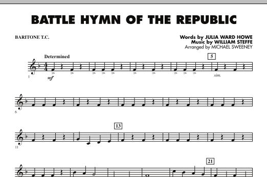 Battle Hymn of the Republic - Baritone T.C. (Concert Band)