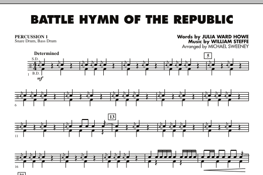 Battle Hymn of the Republic - Percussion 1 (Concert Band)