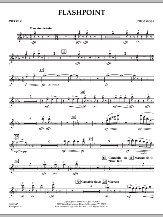 Flashpoint - Piccolo (Concert Band)