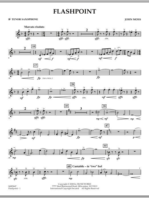 Flashpoint - Bb Tenor Saxophone (Concert Band)