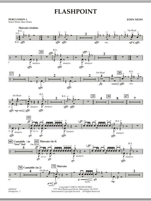 Flashpoint - Percussion 1 (Concert Band)
