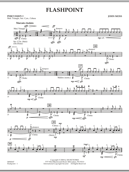 Flashpoint - Percussion 2 (Concert Band)