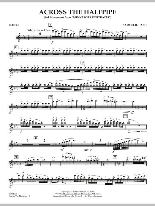 "Across the Halfpipe (Mvt. 3 of ""Minnesota  Portraits"") - Flute 1 (Concert Band)"