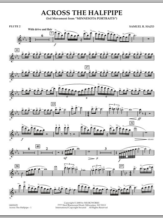 "Across the Halfpipe (Mvt. 3 of ""Minnesota  Portraits"") - Flute 2 (Concert Band)"