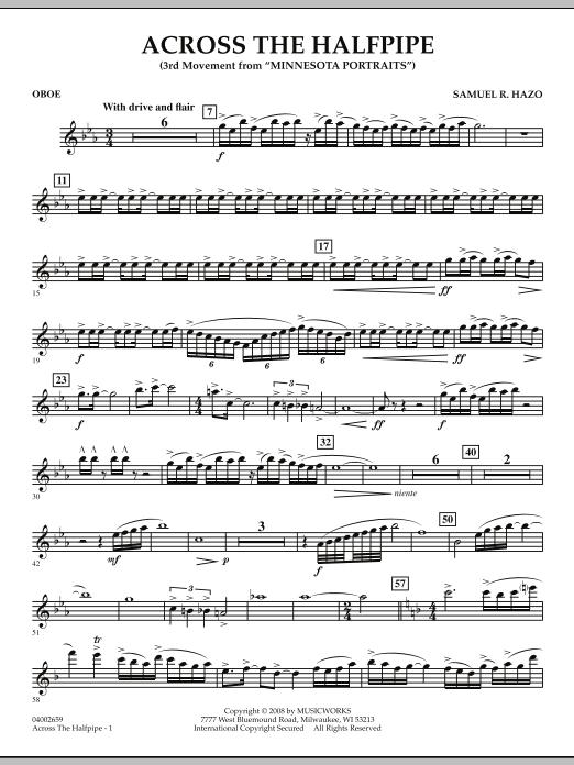 "Across the Halfpipe (Mvt. 3 of ""Minnesota  Portraits"") - Oboe (Concert Band)"