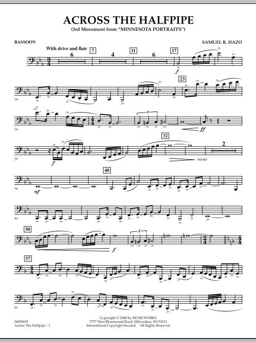 """Across the Halfpipe (Mvt. 3 of """"Minnesota  Portraits"""") - Bassoon (Concert Band)"""