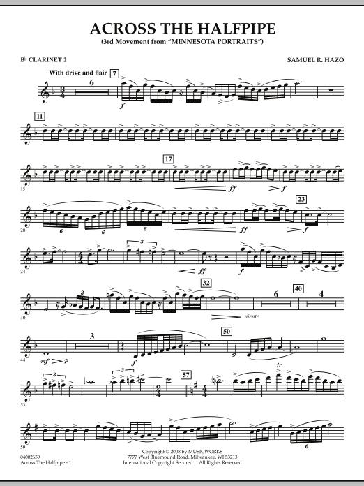 "Across the Halfpipe (Mvt. 3 of ""Minnesota  Portraits"") - Bb Clarinet 2 (Concert Band)"