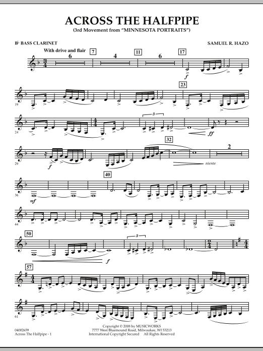 "Across the Halfpipe (Mvt. 3 of ""Minnesota  Portraits"") - Bb Bass Clarinet (Concert Band)"