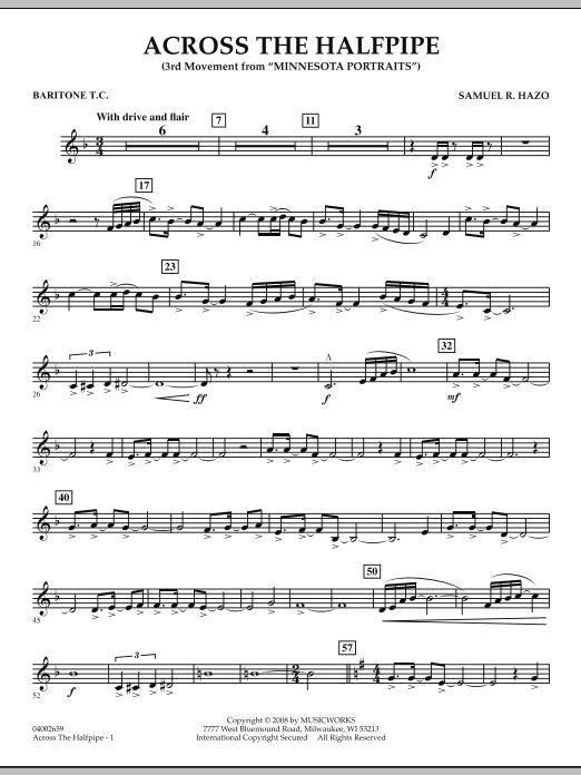 "Across the Halfpipe (Mvt. 3 of ""Minnesota  Portraits"") - Baritone T.C. (Concert Band)"