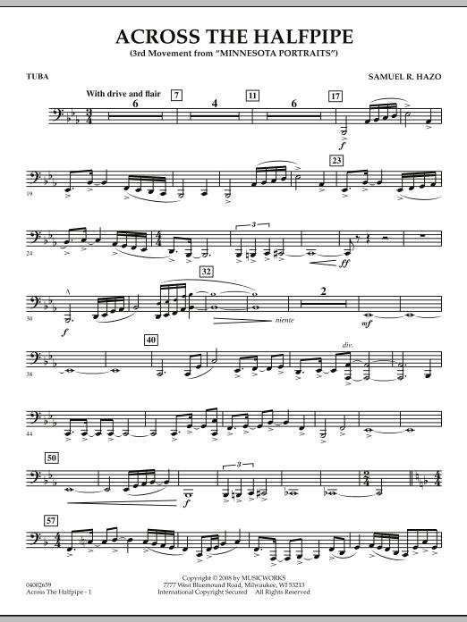 "Across the Halfpipe (Mvt. 3 of ""Minnesota  Portraits"") - Tuba (Concert Band)"