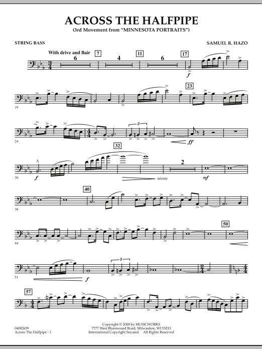 "Across the Halfpipe (Mvt. 3 of ""Minnesota  Portraits"") - String Bass (Concert Band)"