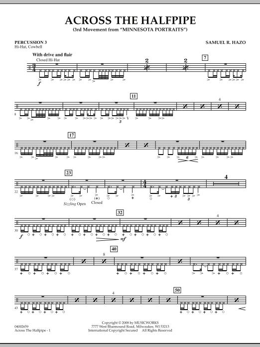 "Across the Halfpipe (Mvt. 3 of ""Minnesota  Portraits"") - Percussion 3 (Concert Band)"