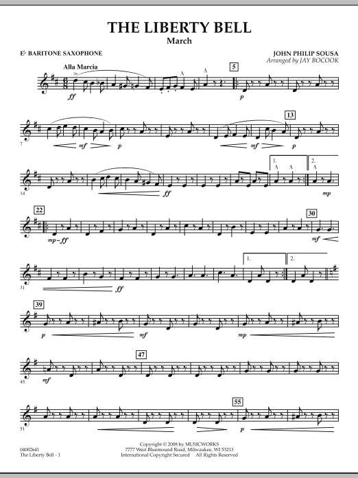 The Liberty Bell - Eb Baritone Saxophone (Concert Band)