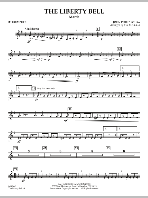 The Liberty Bell - Bb Trumpet 3 (Concert Band)