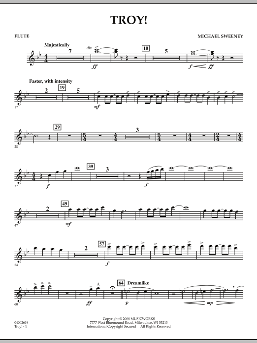 Troy! - Flute (Concert Band)