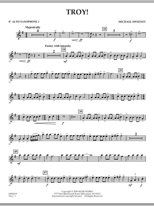 Troy! - Eb Alto Saxophone 1 (Concert Band)
