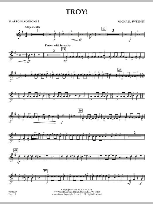 Troy! - Eb Alto Saxophone 2 (Concert Band)