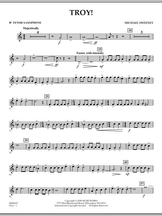 Troy! - Bb Tenor Saxophone (Concert Band)