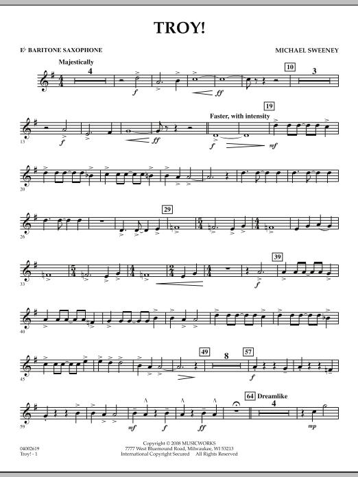 Troy! - Eb Baritone Saxophone (Concert Band)