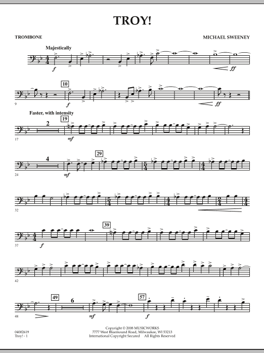 Troy! - Trombone (Concert Band)