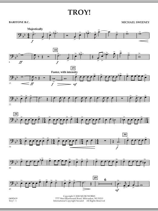 Troy! - Baritone B.C. (Concert Band)