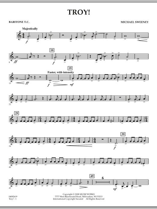 Troy! - Baritone T.C. (Concert Band)