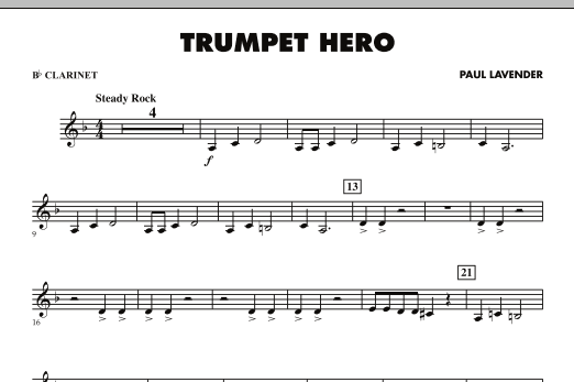 Trumpet Hero - Bb Clarinet (Concert Band)