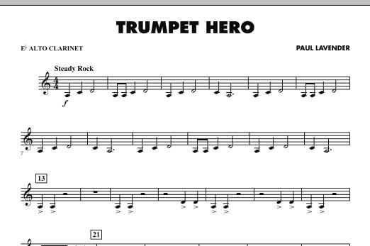 Trumpet Hero - Eb Alto Clarinet (Concert Band)