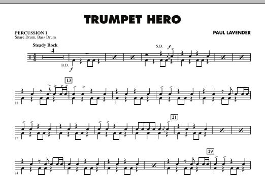 Trumpet Hero - Percussion 1 (Concert Band)