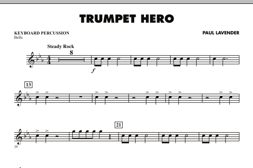 Trumpet Hero - Keyboard Percussion (Concert Band)