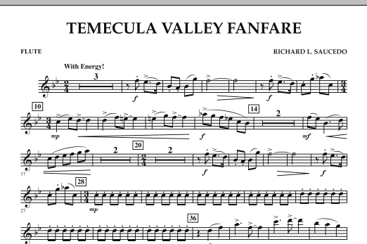 Temecula Valley Fanfare - Flute (Concert Band)